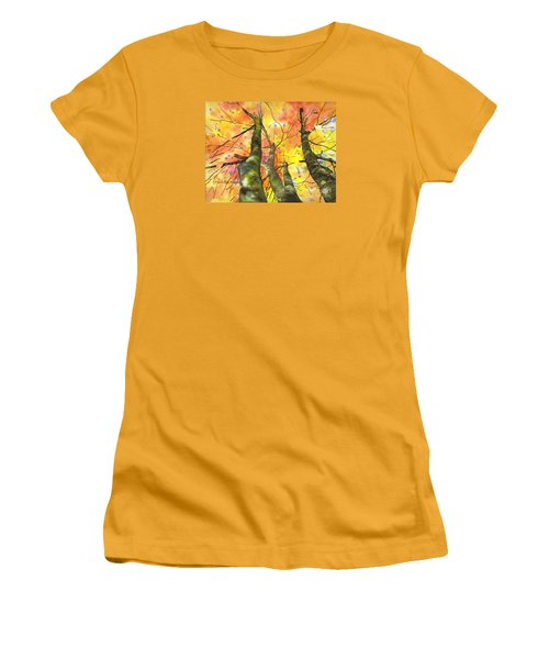 Women's T-Shirt (Junior Cut) featuring the painting Sky View by Yolanda Koh