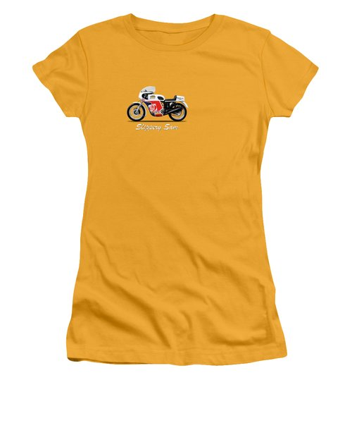 Slippery Sam Production Racer Women's T-Shirt (Junior Cut) by Mark Rogan