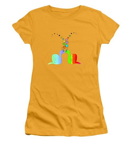 Snail Love - Romance Women's T-Shirt (Athletic Fit)