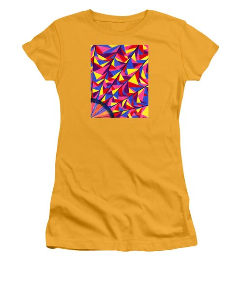 Women's T-Shirt (Junior Cut) featuring the drawing Solar Fractals by Kim Sy Ok