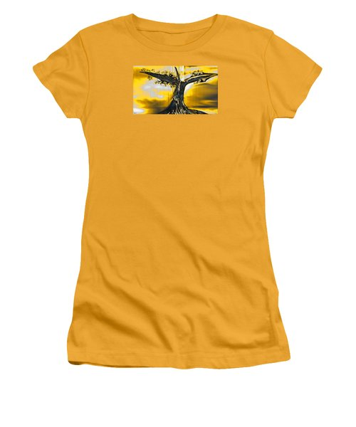 Solitude Women's T-Shirt (Junior Cut) by Yul Olaivar