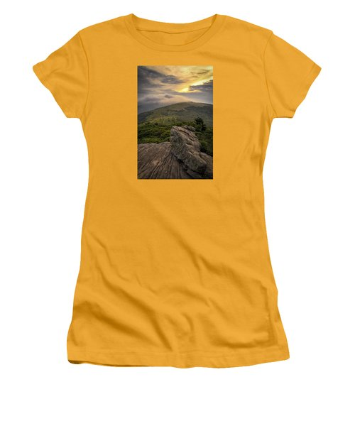 Rocky Sunset - Roan Mountain Women's T-Shirt (Athletic Fit)