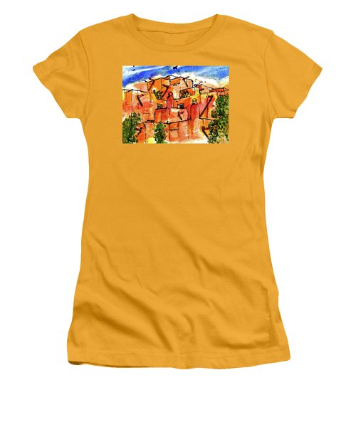 Southwestern Architecture Women's T-Shirt (Junior Cut) by Terry Banderas