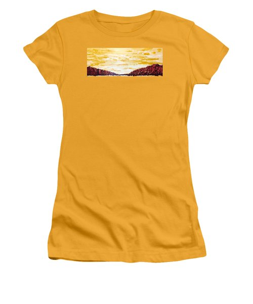 Southwestern Mountain Range Women's T-Shirt (Athletic Fit)