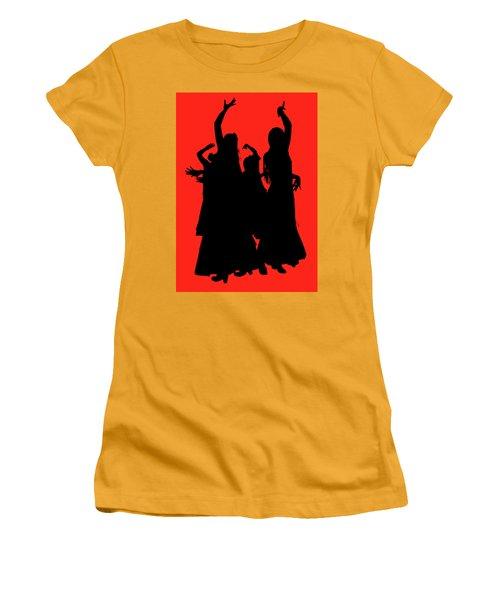 Women's T-Shirt (Junior Cut) featuring the photograph Spanish Dancers by Jeff Burgess