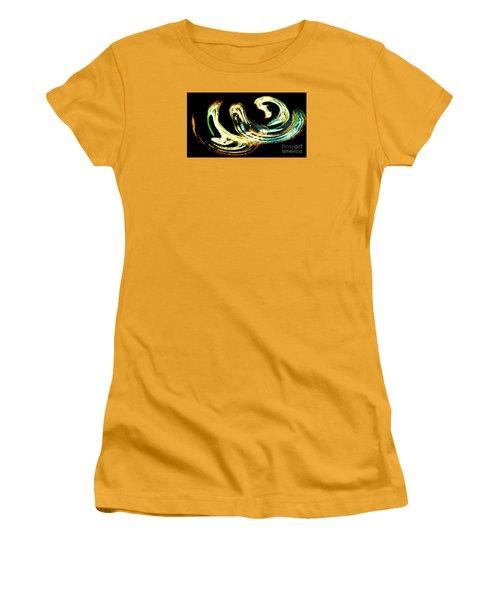 Women's T-Shirt (Junior Cut) featuring the photograph Spiral Activity - A Modern Fractal Image by Merton Allen