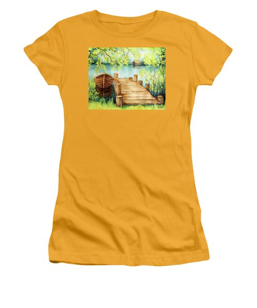 Spring Boat Women's T-Shirt (Athletic Fit)