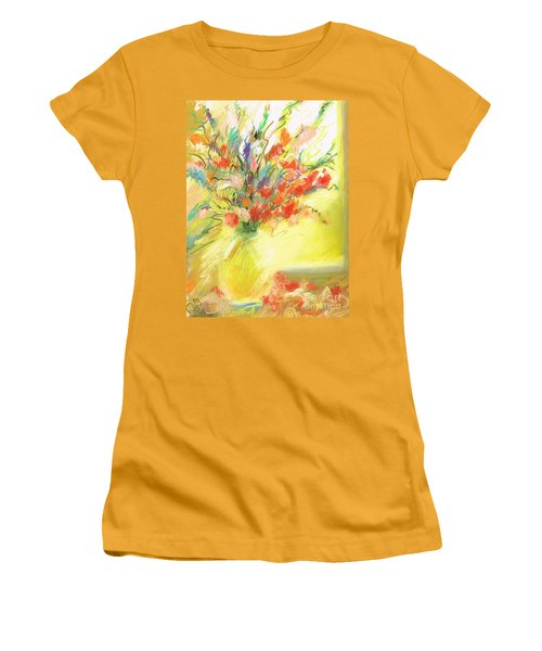 Women's T-Shirt (Junior Cut) featuring the painting Spring Bouquet by Frances Marino