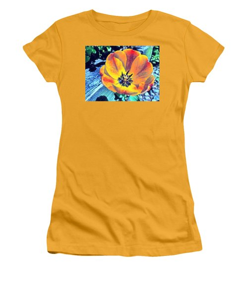Women's T-Shirt (Athletic Fit) featuring the photograph Spring Flower Bloom by Derek Gedney