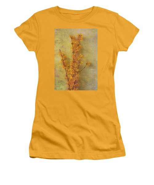 Spring Forsythia Women's T-Shirt (Junior Cut) by Catherine Alfidi