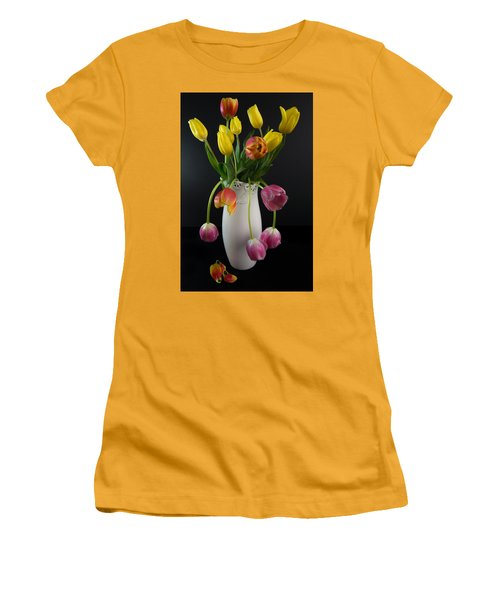 Spring Tulips In Vase Women's T-Shirt (Athletic Fit)