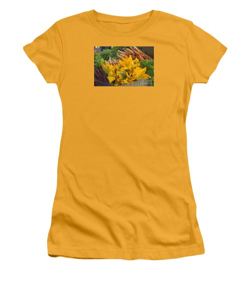 Women's T-Shirt (Junior Cut) featuring the photograph Squash Blossoms by Jeanette French