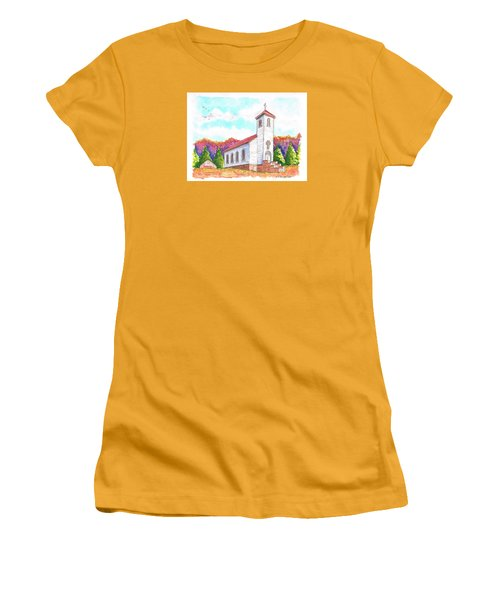 St. Peter's Catholic Church, Fayette, Mi Women's T-Shirt (Junior Cut) by Carlos G Groppa