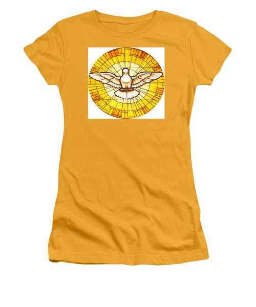 Stain Glass Dove Women's T-Shirt (Athletic Fit)
