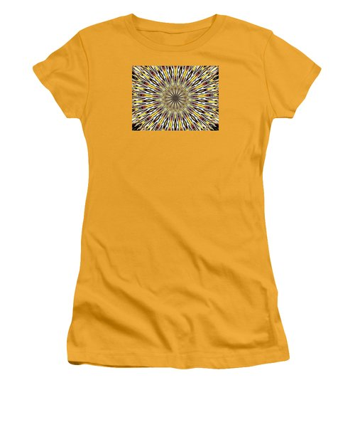 Women's T-Shirt (Junior Cut) featuring the photograph Stained Glass Kaleidoscope 22 by Rose Santuci-Sofranko