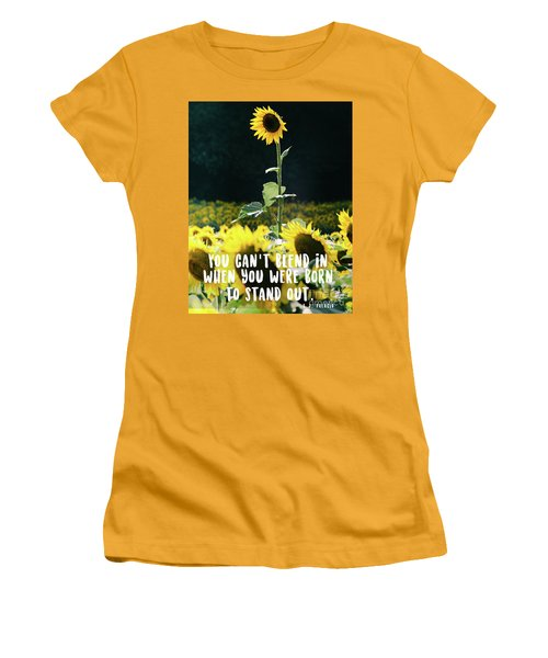 Women's T-Shirt (Athletic Fit) featuring the photograph Stand Out by Andrea Anderegg