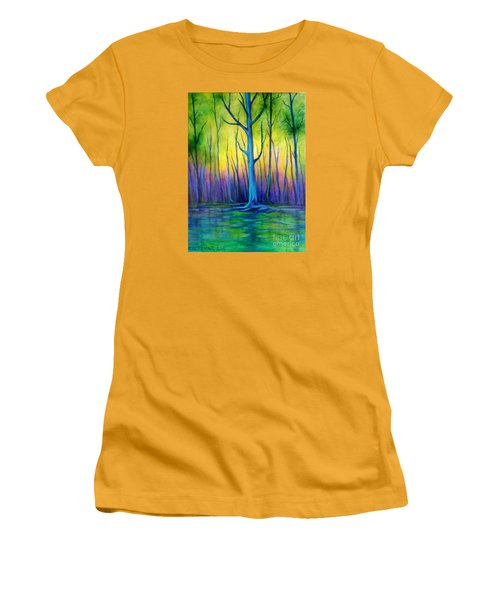 Women's T-Shirt (Junior Cut) featuring the painting Standing Tall  by Alison Caltrider
