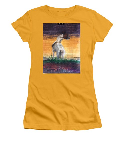 Women's T-Shirt (Junior Cut) featuring the painting Standing Tall by William Renzulli