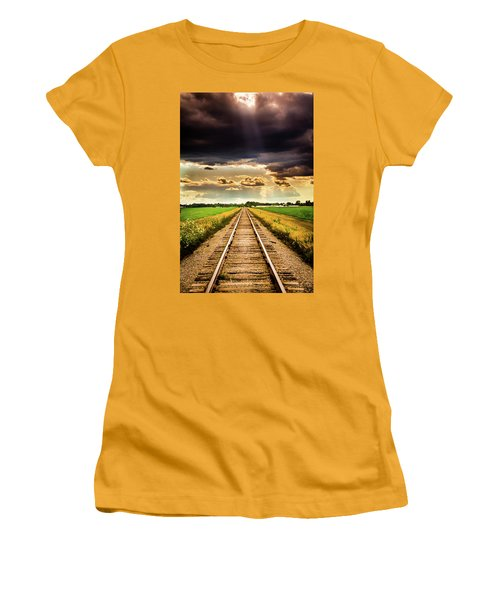 Stormy Tracks Women's T-Shirt (Athletic Fit)