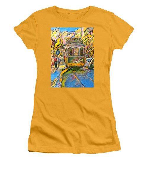 Street Car Lisbon Women's T-Shirt (Athletic Fit)