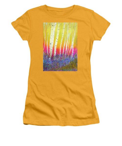 Summer Birch  Women's T-Shirt (Junior Cut) by Linde Townsend