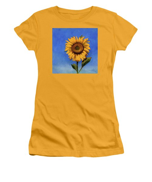 Women's T-Shirt (Junior Cut) featuring the painting Summer Fun by Billie Colson