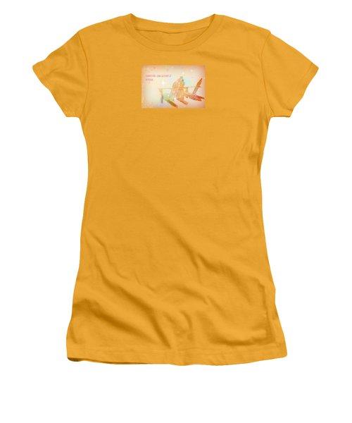 Women's T-Shirt (Junior Cut) featuring the photograph Summertime by Robin Regan