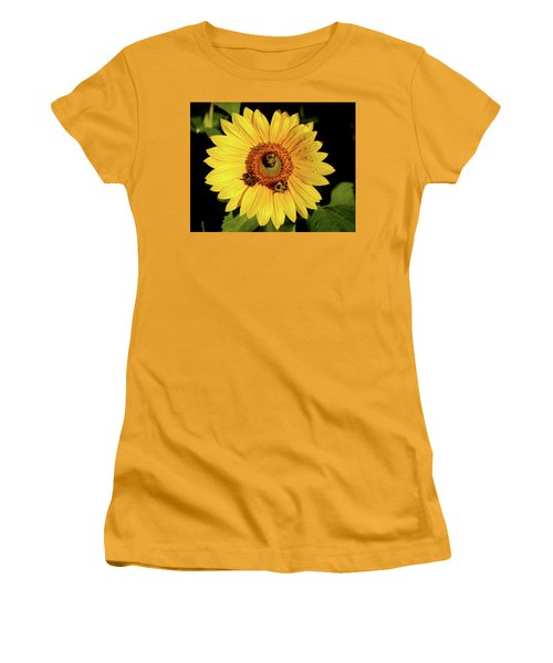 Sunflower And Bees Women's T-Shirt (Junior Cut) by Nancy Landry