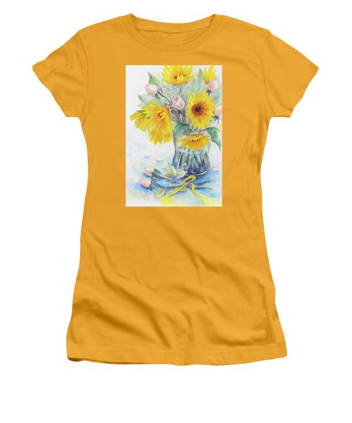 Sunflower-4 Women's T-Shirt (Athletic Fit)