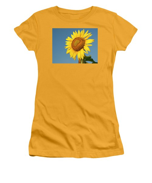 Sunflower And Blue Sky Women's T-Shirt (Athletic Fit)