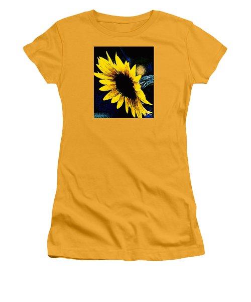 Women's T-Shirt (Junior Cut) featuring the photograph Sunflower Art  by Juls Adams
