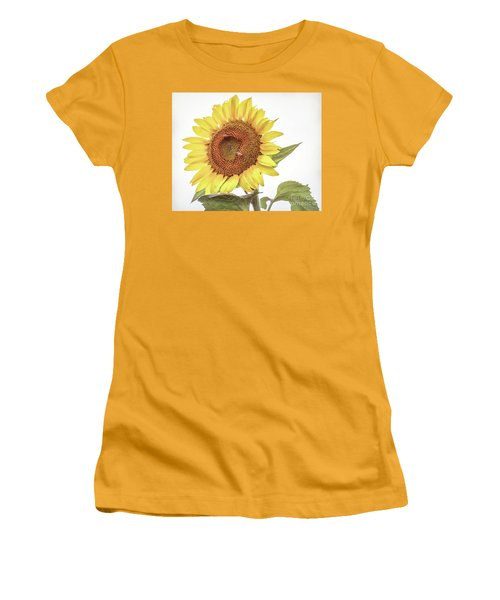 Women's T-Shirt (Athletic Fit) featuring the photograph Sunflowers 10 by Andrea Anderegg