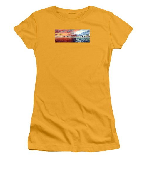 Sunrise Over Indian Lake Women's T-Shirt (Junior Cut) by Nancy Cupp