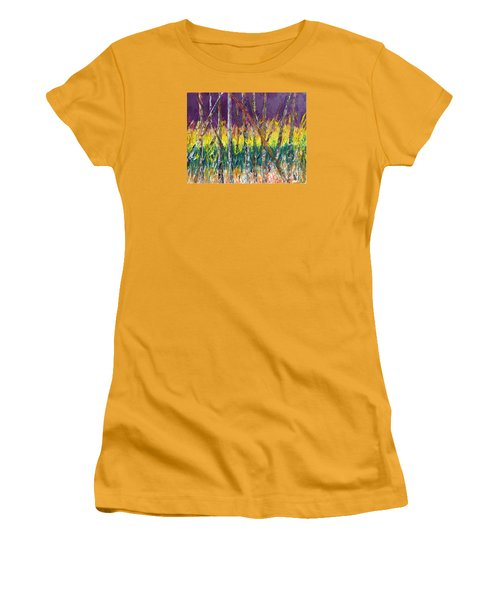Sunset Abstract Pallet Knife Women's T-Shirt (Athletic Fit)