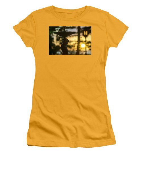 Women's T-Shirt (Athletic Fit) featuring the photograph Sunset At Alameda Apodaca Cadiz Spain by Pablo Avanzini
