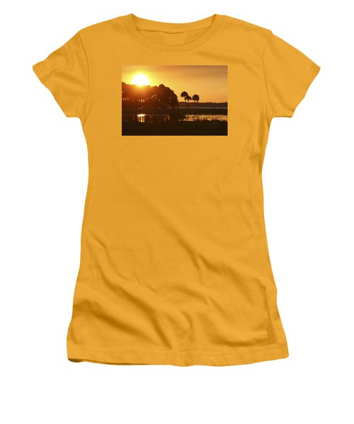 Sunset At Myakka River State Park In Florida, Usa Women's T-Shirt (Athletic Fit)