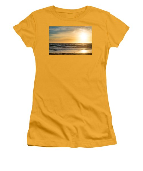 Women's T-Shirt (Junior Cut) featuring the photograph sunset at the North Sea by Hannes Cmarits