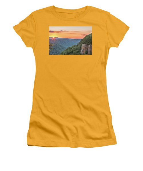 Sunset Flare Women's T-Shirt (Athletic Fit)