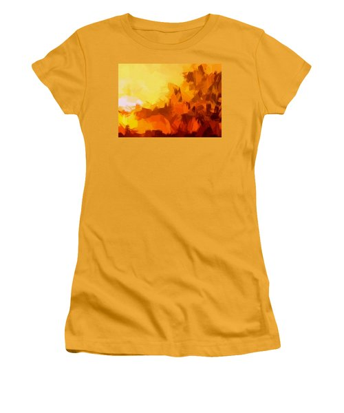 Sunset In Valhalla Women's T-Shirt (Athletic Fit)