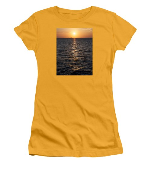Sunset On Bay Women's T-Shirt (Athletic Fit)