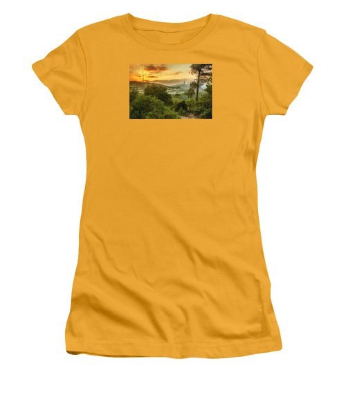 Sunset On Carmel Mountain Women's T-Shirt (Athletic Fit)