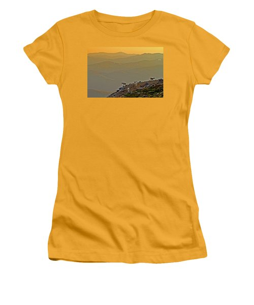 Women's T-Shirt (Junior Cut) featuring the photograph Sunset On The Edge by Scott Mahon