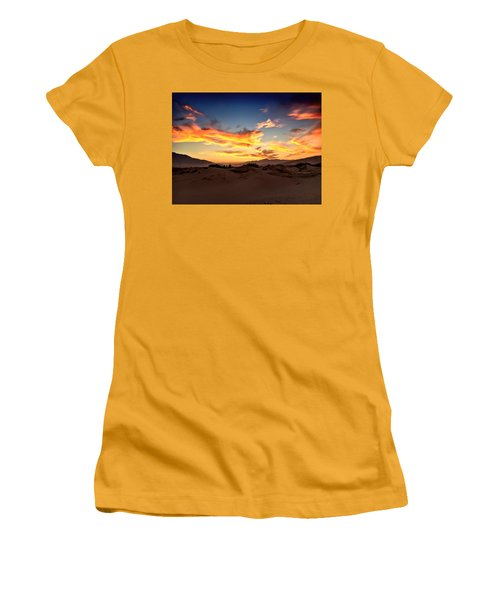 Sunset Over The Desert Women's T-Shirt (Athletic Fit)