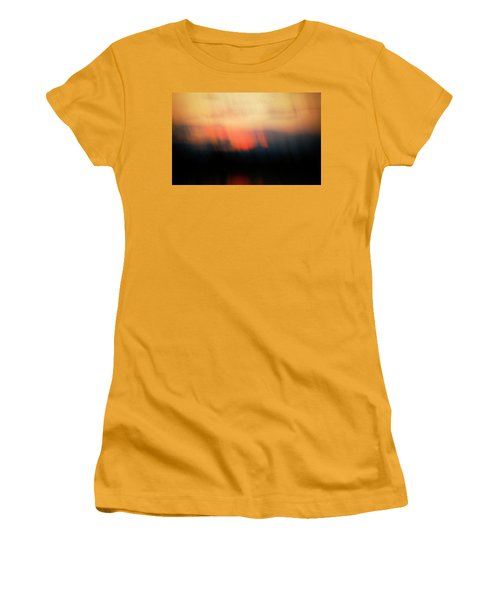 Women's T-Shirt (Junior Cut) featuring the photograph Sunset Raining Down by Marilyn Hunt
