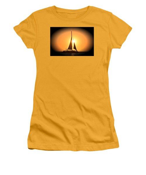 Sunset Sail Women's T-Shirt (Junior Cut) by Gary Smith