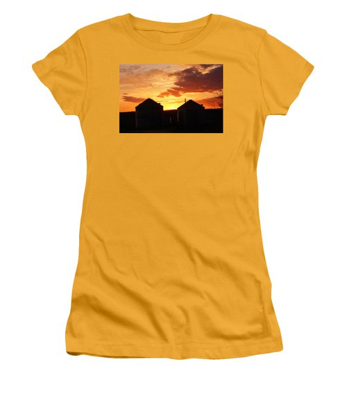Sunset Silos Women's T-Shirt (Junior Cut) by Jana Russon
