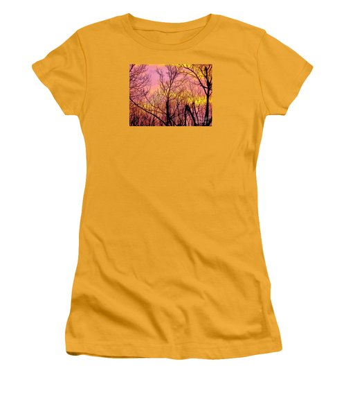 Sunset Through The Trees Women's T-Shirt (Athletic Fit)