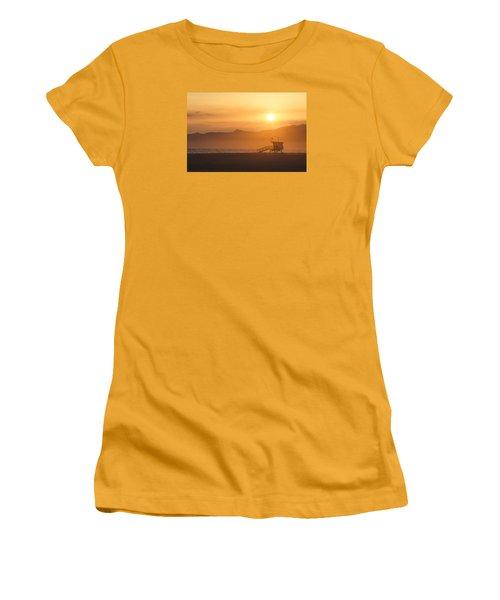 Sunset Venice Beach  Women's T-Shirt (Junior Cut) by Christina Lihani