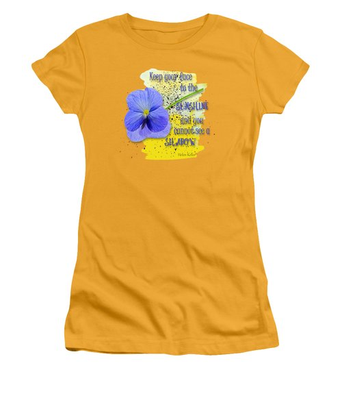 Sunshine Women's T-Shirt (Junior Cut) by Larry Bishop