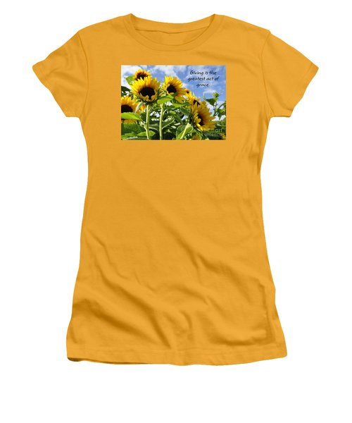 Sunshine Lollipops Grace Women's T-Shirt (Junior Cut) by Diane E Berry